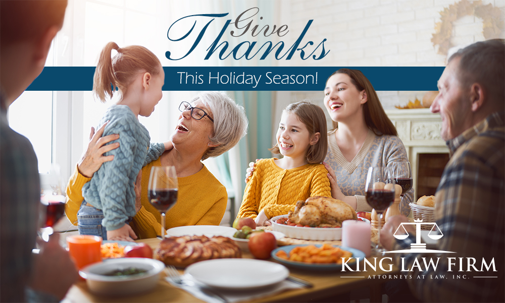 Thanksgiving King Law Firm Give Thanks